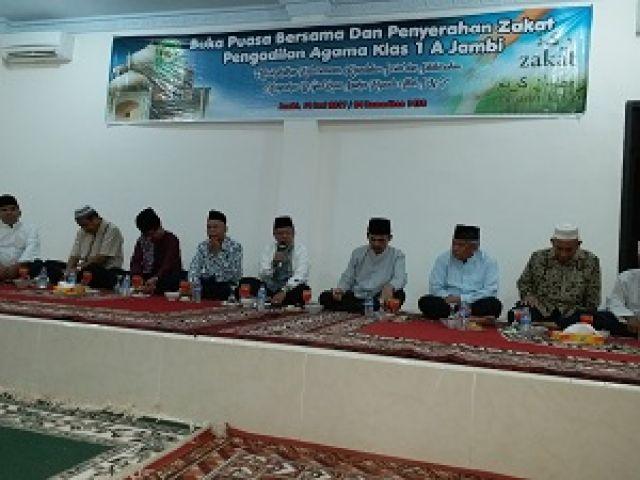 Wakil Ketua PTA Jambi Hadir Buka Bersama Keluarga Besar Pengadilan Agama Jambi